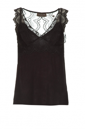 Rosemunde |  Top with lace Lynn | black