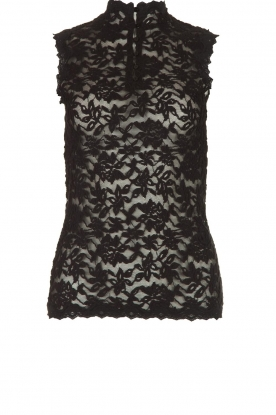 Rosemunde | Kanten top Olivia | zwart:Lace top Olivia | black
