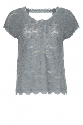 Rosemunde |  Lace top with low back Lieve | blue