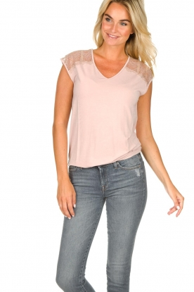 Rosemunde |  Top with lace Lulu | nude