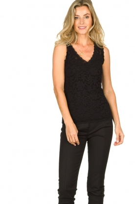 Rosemunde | Lace top Rosanna | black