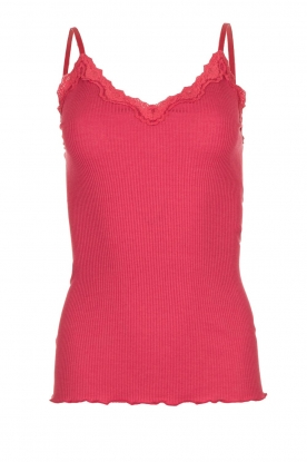 Rosemunde |  Top with lace Yara | pink