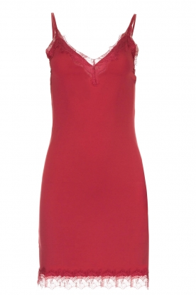 Rosemunde | Slip dress Billie | raspberry red