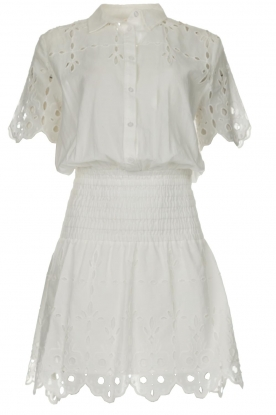 Freebird |  Dress with cut-out details Jip | white