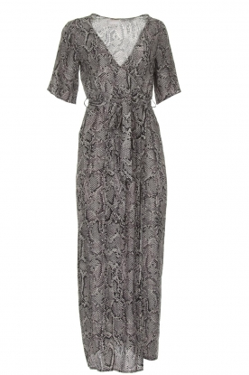 Freebird |  Snake print maxi dress Levi | grey