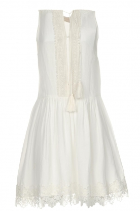 Freebird |  Dress with lace details Maza | white