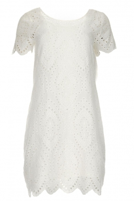 Freebird |  Dress with embroideries and cut-outs Tammy | white