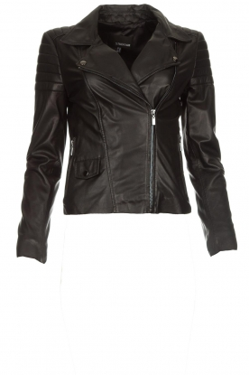 Arma |  Leather biker jacket Lesley | black