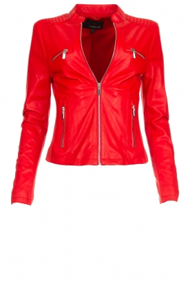 Arma |  Studio Ar leather biker jacket Tuya | red