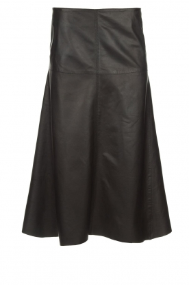 Arma | Studio Ar leather skirt Megan | black