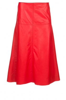 Arma | Studi Ar leather skirt Megan | red