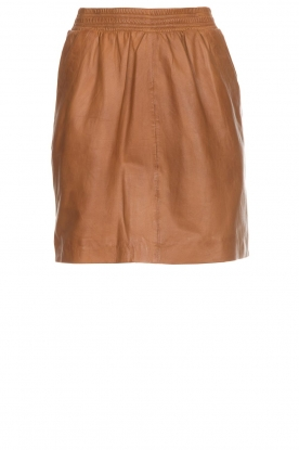 Arma |  Studio Ar leather skirt Mirte | brown