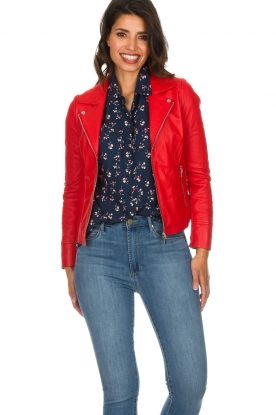 Arma |  Studio Ar leather biker jacket Kendall | red