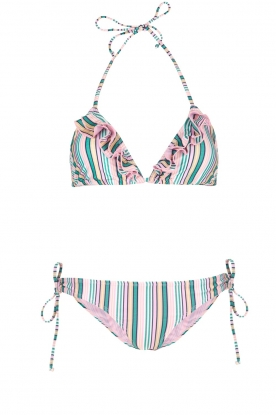 Becksöndergaard |  Striped triangle bikini Stria | pink