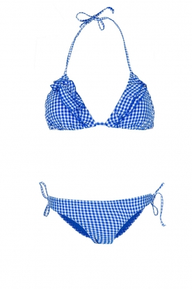 Becksöndergaard |  Checkered triangle bikini Checks | blue