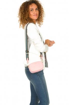 Becksöndergaard |  Leather bum bag Fany Rua | pink