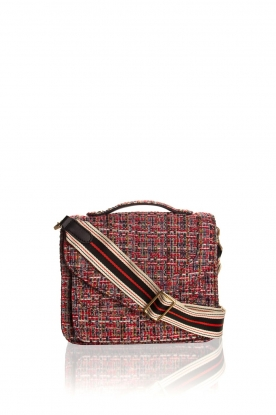 Becksöndergaard |  Boucle shoulder bag Lovish Mara | red
