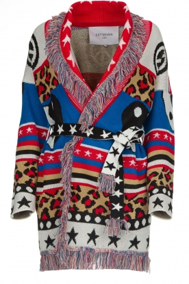 Est-Seven |  Cardigan with prints Show Me What You Got | multi