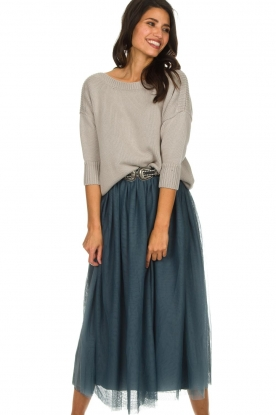 Les Favorites |  Tulle midi skirt Liz | blue