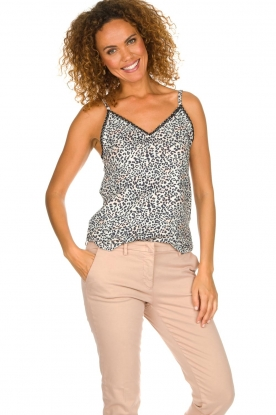 Les Favorites |  Leopard printed top Olivia | animal print