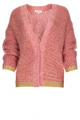 Les Favorites |  Knitted cardigan with glitter details Robbie | pink