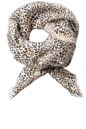 Les Favorites | Sjaal met luipaardprint Eve |  dierenprint : Scarf with leopard