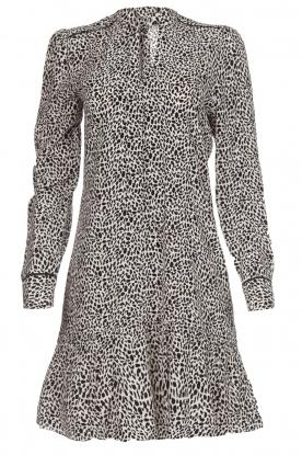 Dante 6 Jurk Layla leopard  zwartwit