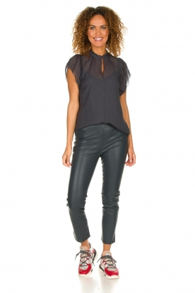Dante 6 |  Leather leggings Ansh | blue