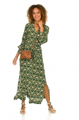 Dante 6 |  Printed maxi dress Loras | green