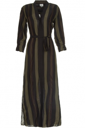 Dante 6 |  Striped maxi dress Arleen | green