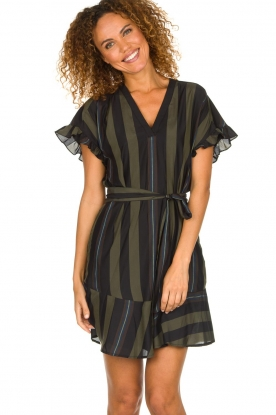 Dante 6 |  Striped dress Ian | green