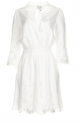 Dante 6 |  Embroidered dress Iris | white