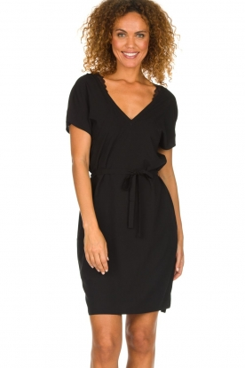 Dante 6 |  Dress with lace trimming Wren | black