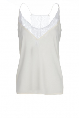 Dante 6 |  Sleeveless top with lace Adella | natural