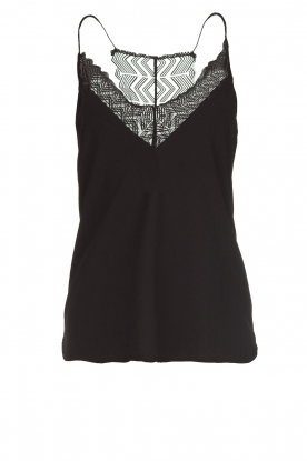Dante 6 |  Sleeveless top with lace Adella | black