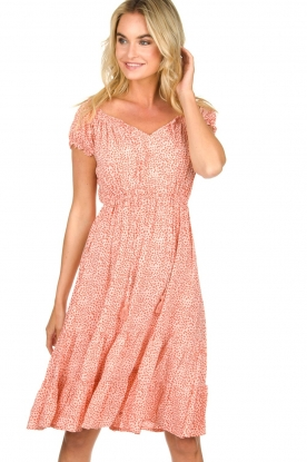 BEACHGOLD | Jurk met stippen Harper | Dress with dots Harper | pink