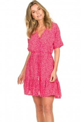 BEACHGOLD | Jurk met bloemenprint Betty | roze