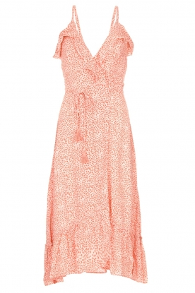 BEACHGOLD | Wrapped dress with dots Lotti | pink