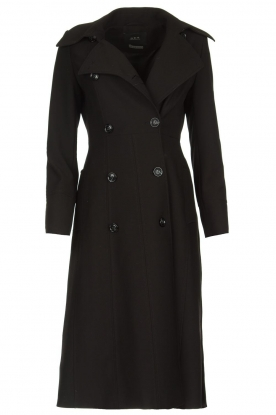 Set |  Classic trench coat Mayra | black