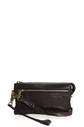 Depeche |  Leather shoulder bag Romy | black