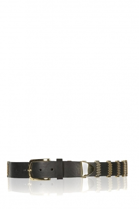 Depeche |  Leather belt Mandy | black