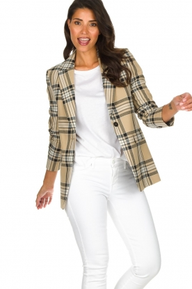 Set |  Checkered blazer Moise | camel