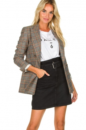 Set |  Checkered blazer Minnie | print
