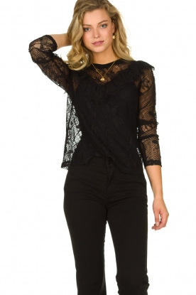 Set |  Lace top with ruffles Muse | black