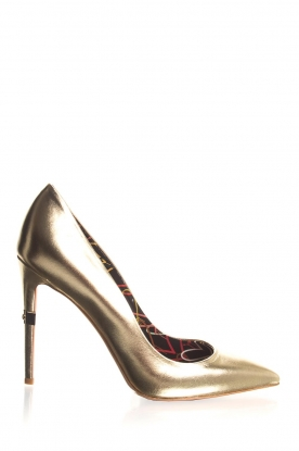 ELISABETTA FRANCHI |  Leather metallic pumps Mae | gold