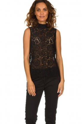 Rosemunde | Lace top Romee | black