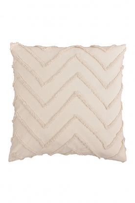 Little Soho Living |  50x50 Zigzag embroidered cushion cover Nova | natural