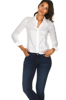 Set |  Classic stretch blouse Maxime | white