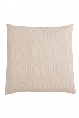 Little Soho Living |  60x60 Embroidered cushion cover Imani | natural
