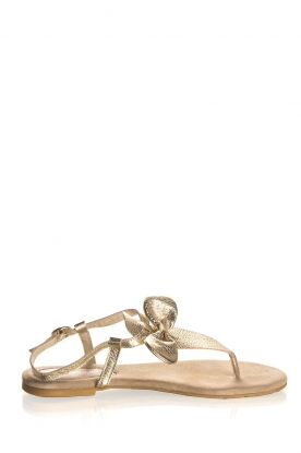 Maluo | Leather sandals Fabia | gold